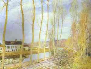 The Canal Du Loing At Moret