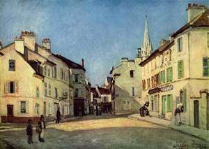 Alfred Sisley - Square In Argenteuil Rue De La Chaussee
