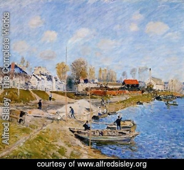 Alfred Sisley - Sand On The Quayside Port Marly