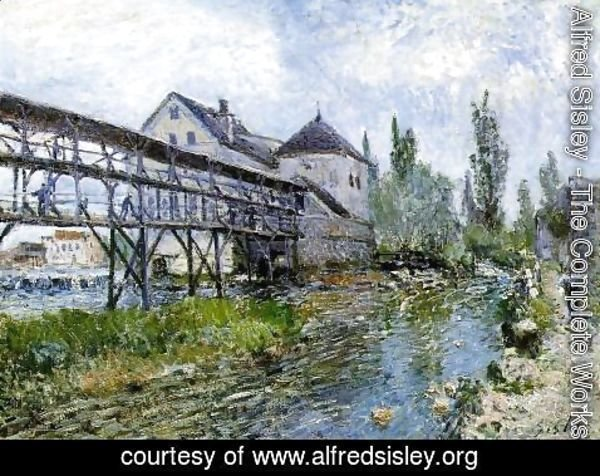 Alfred Sisley - Provencher's Mill at Moret 1883
