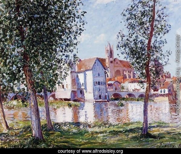 Moret Sur Loing In Morning Sun
