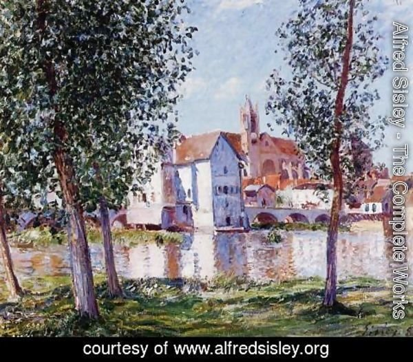 Alfred Sisley - Moret Sur Loing In Morning Sun