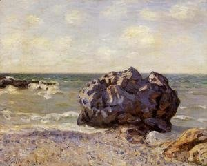 Alfred Sisley - Langland Bay Storrs Rock   Morning