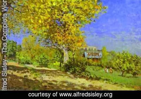 Alfred Sisley - Landscape At Louveciennes