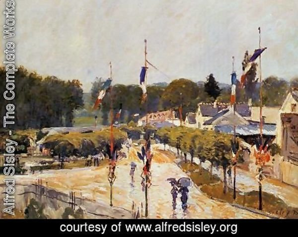 Alfred Sisley - Fete Day At Marly Le Roi Formerly The Fourteenth Of July At Marly Le Roi