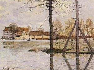 Alfred Sisley - Ferry To The Ile De La Loge   Flood