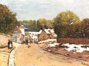 Alfred Sisley - Early Snow at Louveciennes 1870-71