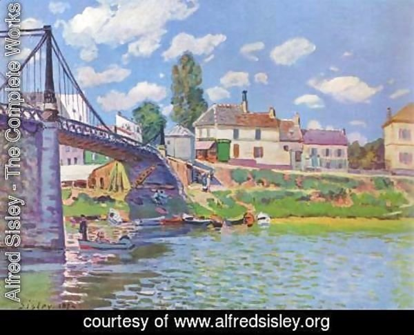 Alfred Sisley - The Bridge at Villeneuve-la-Garenne 1872