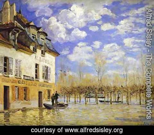 Alfred Sisley - Boat During a Flood 1871