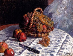 Still Life: Apples And Grapes